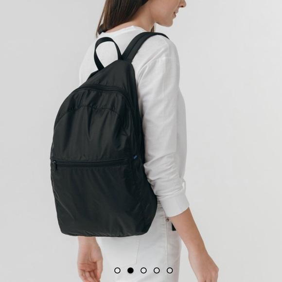 6ea0017215e4 Baggu ripstop backpack nylon packable black